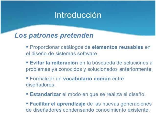 Patrones de diseño de software Slide 3