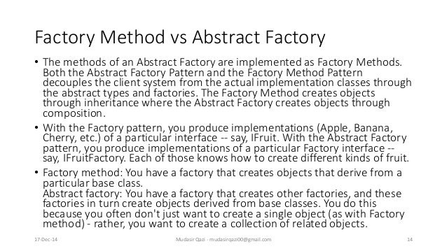 Factory Vs Abstract Factory Design Pattern In Net