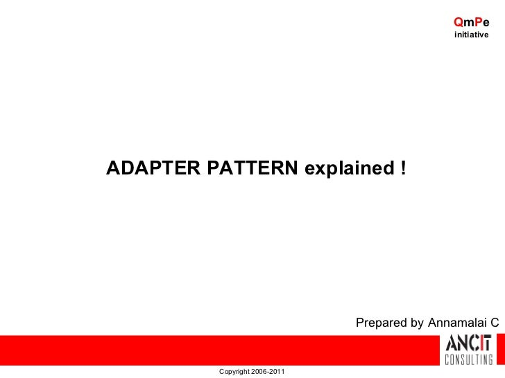 QmPe                                               initiativeADAPTER PATTERN explained !                                Pr...