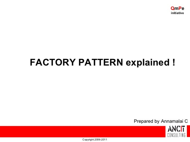 QmPe                                              initiativeFACTORY PATTERN explained !                               Prep...