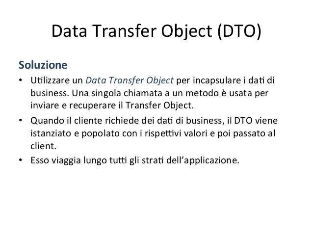 Data  Transfer  Object  (DTO)   Soluzione