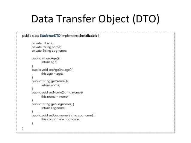 Data  Transfer  Object  (DTO)   // esegue una operazione di ricerca per chiave primaria sulla entità articolo // e...