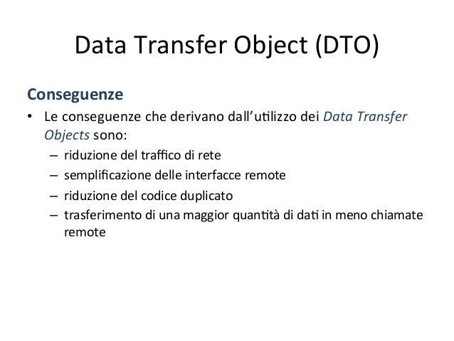 Business  Object   Problema   • Si  ha  un'applicazione  con  un  modello  conce4uale  complesso,  ...
