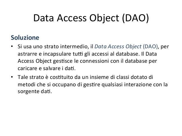 Accesso  dire4o  a  DBMS   import javax.sql.*; import java.sql.* ; . . . public void doSomething(String key) throw...