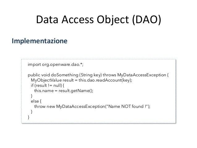 Data  Access  Object  (DAO)   StruAura   ValueObject   BusinessObject   DataAccessObject   DataPersistence...
