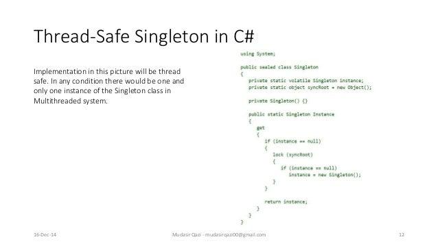 Design Pattern Singleton Pattern Cool Singleton Pattern C