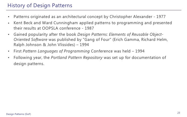 Design patterns examples in net for Architectural design problems