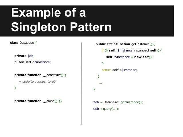 Design Pattern Singleton Php