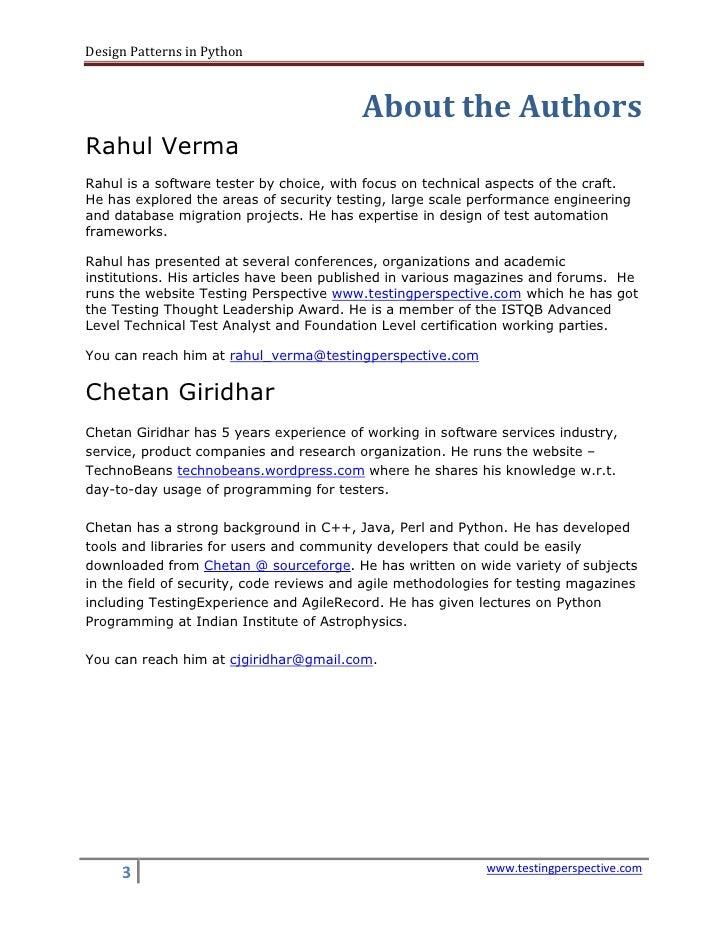 Design Patterns In Python Rahul Verma
