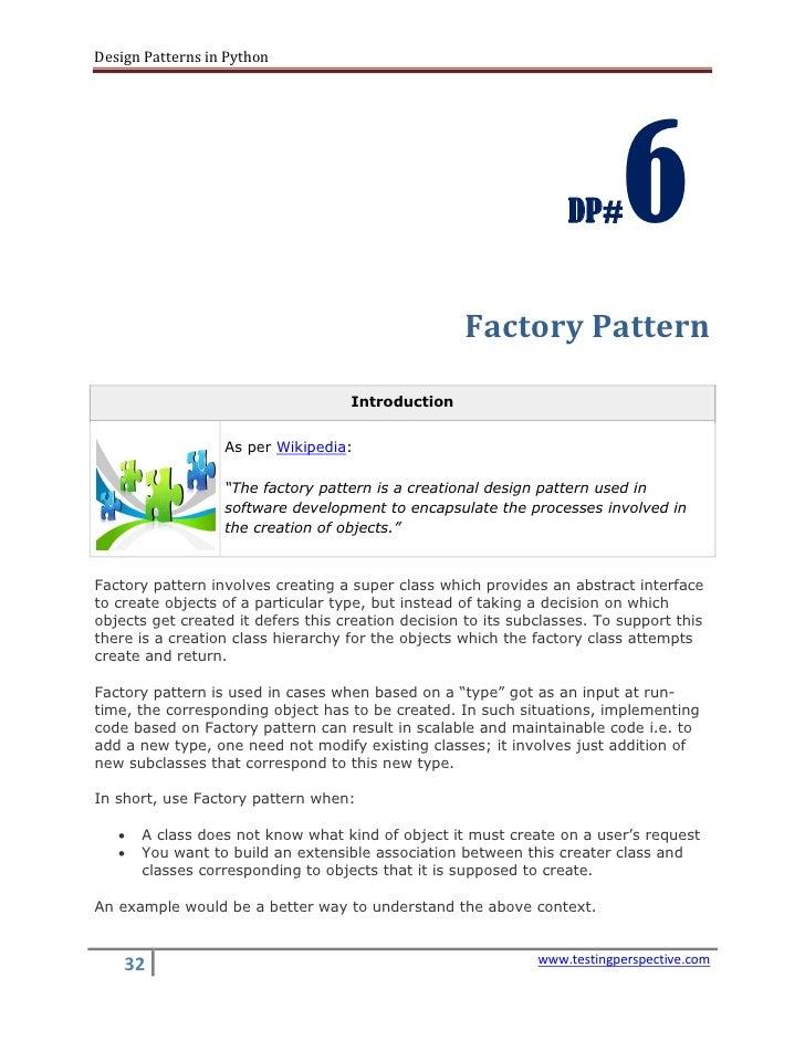 Design Patterns In Python V0 1