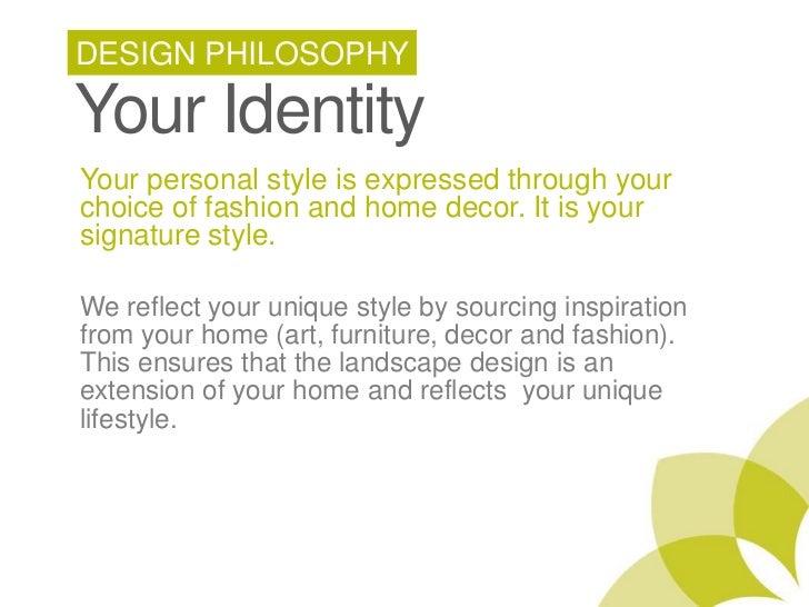 Design philosophy for Philosophy design