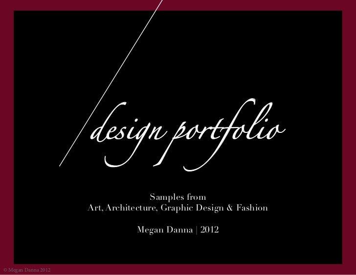 design portfolio                                     Samples from                     Art, Architecture, Graphic Design & ...