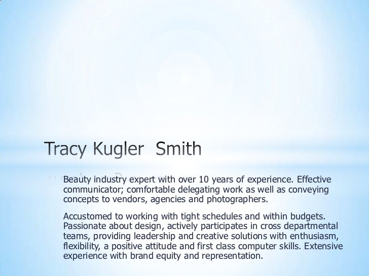 Beauty industry expert with over 10 years of experience. Effectivecommunicator; comfortable delegating work as well as con...