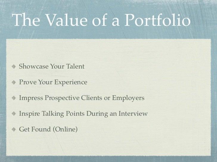 how to create a career portfolio