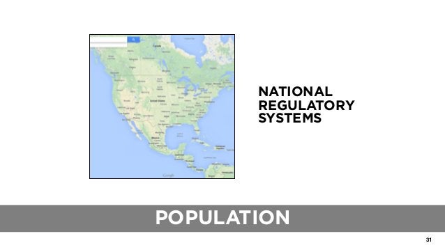 31 THE ROLE OF TRADITIONAL BLUEPRINTS NATIONAL REGULATORY SYSTEMS POPULATION