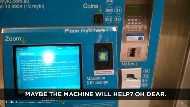 41 MAYBE THE MACHINE WILL HELP? OH DEAR.