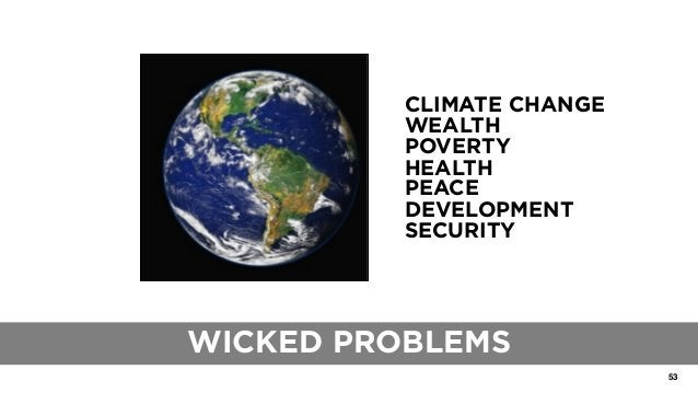 53 THE ROLE OF TRADITIONAL BLUEPRINTS CLIMATE CHANGE WEALTH POVERTY HEALTH PEACE DEVELOPMENT SECURITY WICKED PROBLEMS