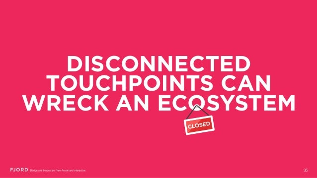 DISCONNECTED TOUCHPOINTS CAN WRECK AN ECOSYSTEM 35