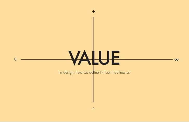 +0          VALUE    (in design: how we define it/how it defines us)                                                      ...