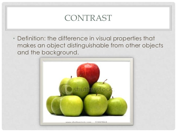 Principles Of Design Contrast : Design principles