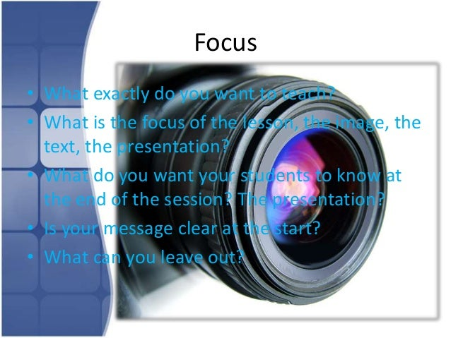 Frame• What is your angle?• Are you focussing on detail and complexity or  is it a general overview and contextualisation?...