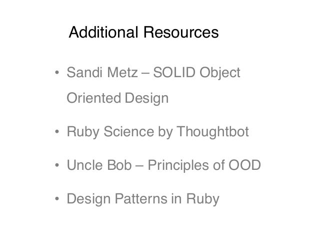 Design principles - SOLID