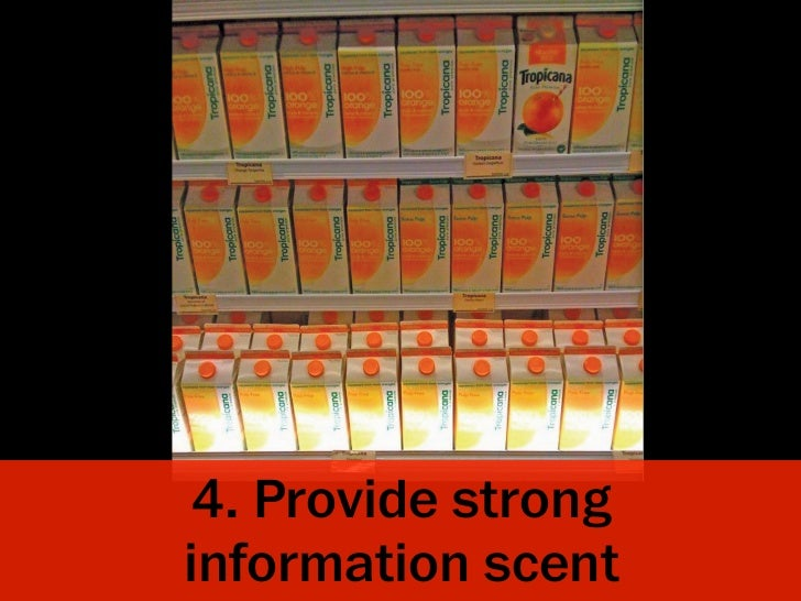 4. Provide stronginformation scent