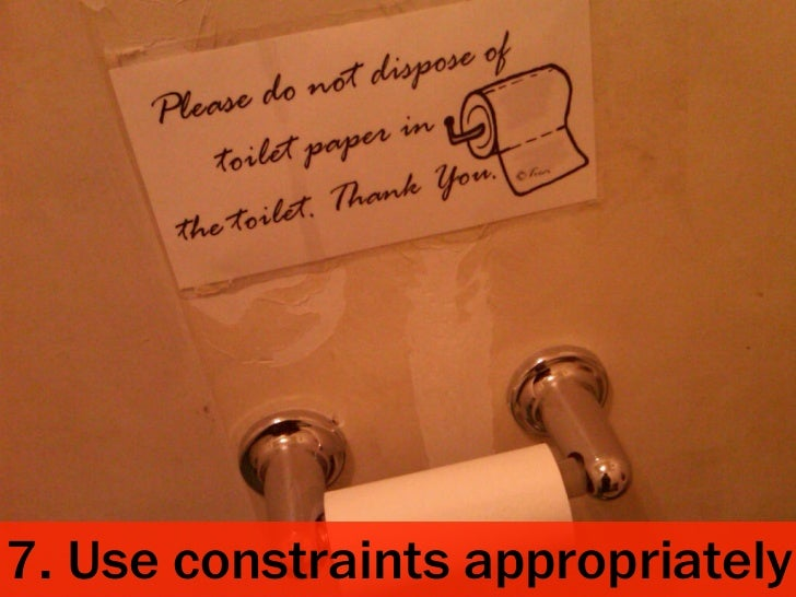 7. Use constraints