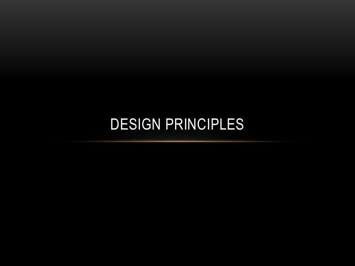 Design Principles<br />