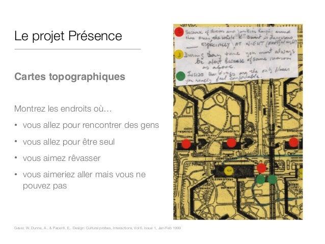 Le projet Présence ! Cartes topographiques! ! Montrez les endroits où… • vous allez pour rencontrer des gens • vous allez ...