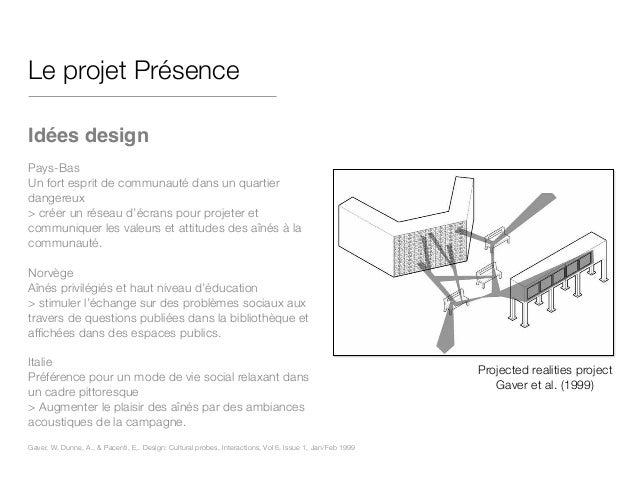 Le projet Présence ! Idées design! ! Pays-Bas Un fort esprit de communauté dans un quartier dangereux > créer un réseau d'...