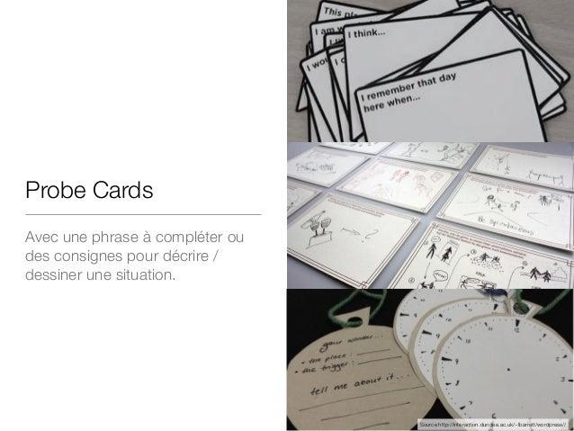 Probe Cards Avec une phrase à compléter ou des consignes pour décrire / dessiner une situation. Source http://interaction....