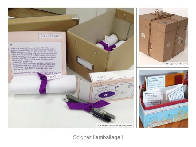 Soignez l'emballage ! Source http://johnwaynehill.com Source https://midassblog.wordpress.com
