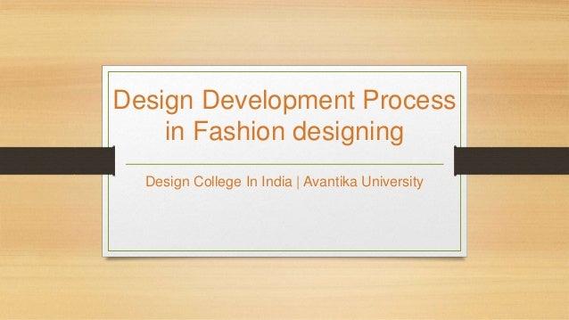 Design Process In Fashion Designing Avantika University