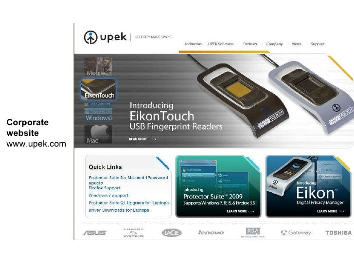 Corporate  website www.upek.com