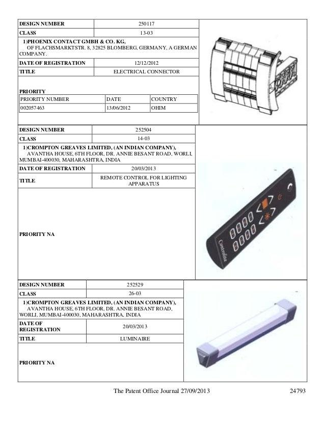 design registration in india and published industrial design applicat