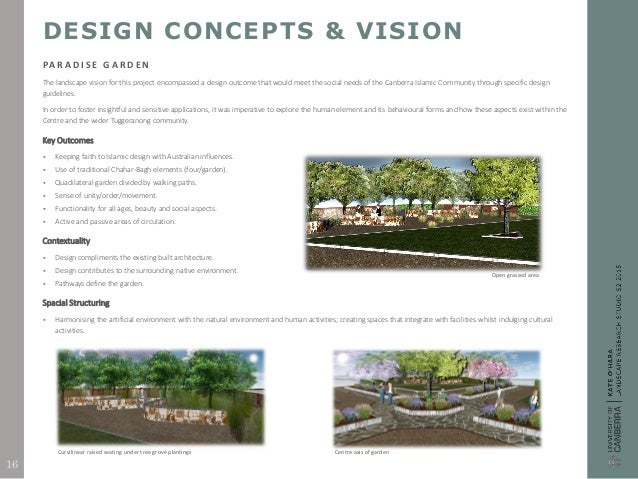 Architecture Design Concept Statement landscape design research report