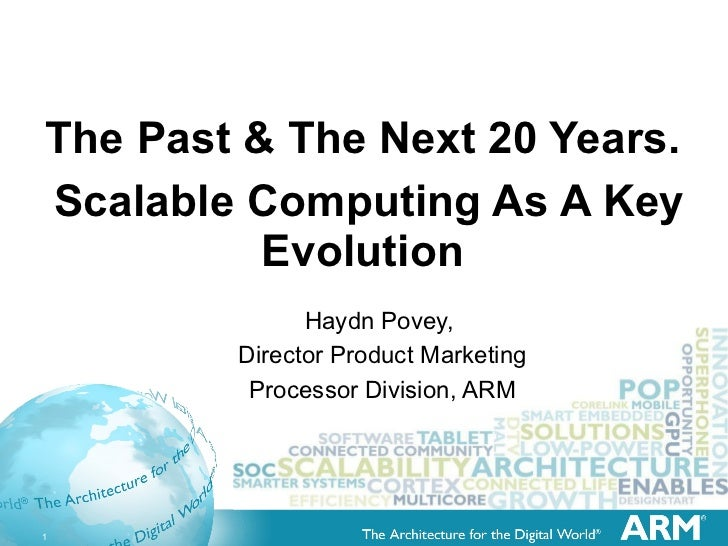 The Past & The Next 20 Years.    ScalableComputing As A Key Evolution Haydn Povey,  Director Product Marketing Processor ...