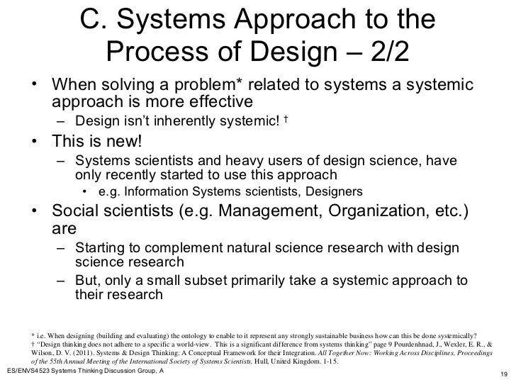 Design science  systems thinking and ontologies summary upward a v    SlideShare     C  Systems