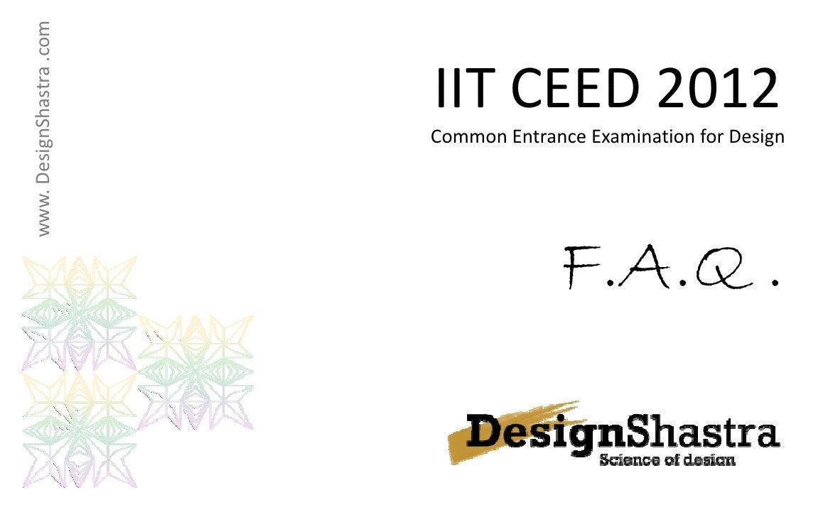 www.DesignShast .com                        IITCEED2012                        IIT CEED 2012               tra         ...