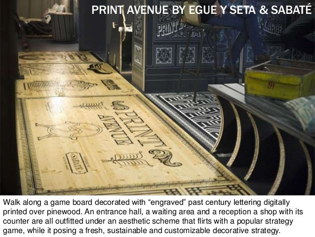 """PRINT AVENUE BY EGUE Y SETA & SABATÉ Walk along a game board decorated with """"engraved"""" past century lettering digitally pr..."""