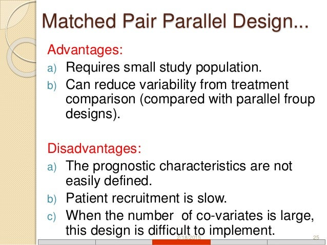 Pair matched study