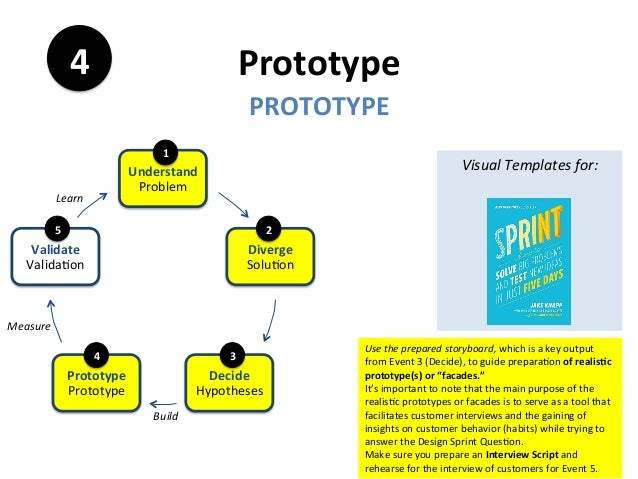 Prototype	 PROTOTYPE	 4	 Use	the	prepared	storyboard,	which	is	a	key	output	 from	Event	3	(Decide),	to	guide	prepara<on	of...