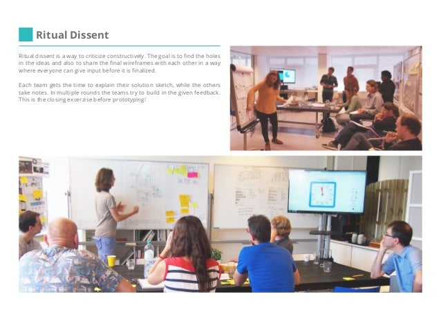 Make it happen! (examples) Once we created a prototype by Powerpoint with embedded videos. That was also a great success! ...