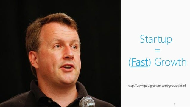 Startup = (Fast) Growth http://www.paulgraham.com/growth.html 5