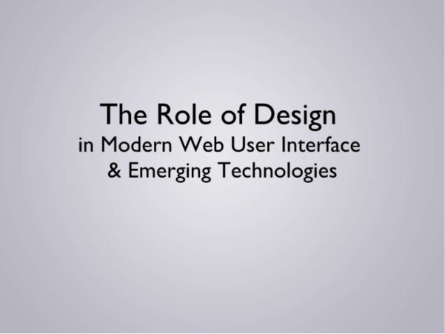 Designs role in_modern_web
