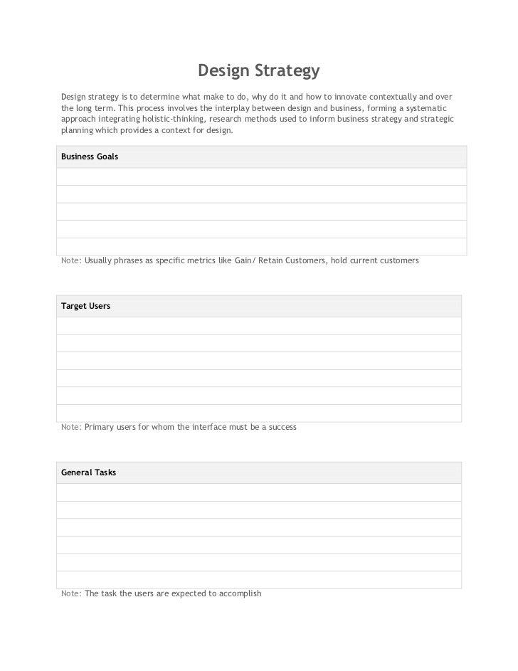 Design Strategy Template - Sivaprasath Selvaraj