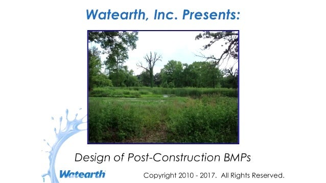 Watearth Design of Post-Construction Structural BMPs