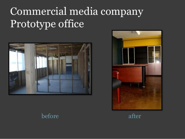 Commercial media company Prototype office before after