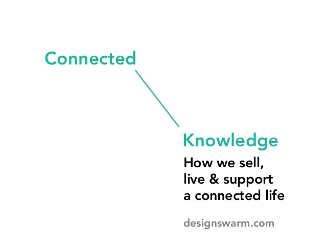Connected How we sell,  live & support  a connected life Knowledge designswarm.com